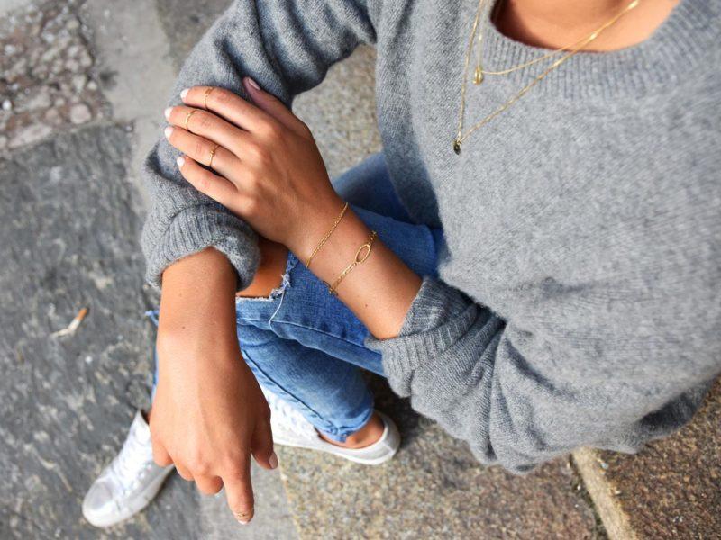 Streetstyle mit 14kt Schmuck, Armbänder, Ringe und Halsketten