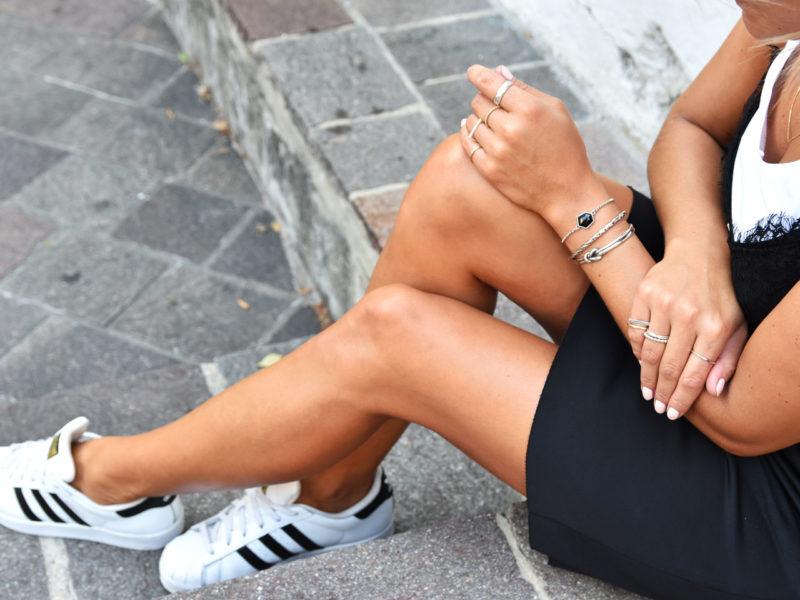Schmuckkollektion Streetstyle Black & White mit handgemachtem Silberschmuck