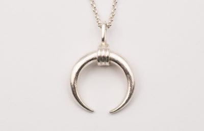 Mond-Halskette in Silber mit 3 Schlaufen