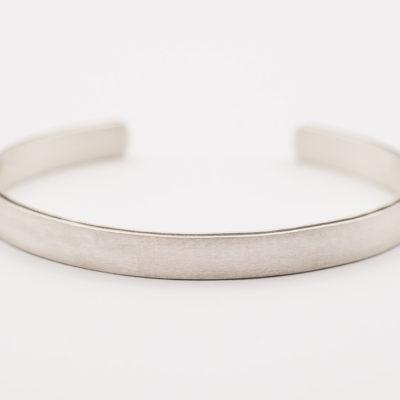 Silber-Armreif bzw. Armspange matt mit 5mm Breite